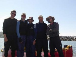 Le groupe: Étienne, Raymond, Gérald, Benoit et Pierre-Marc